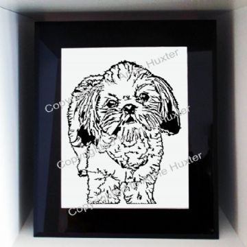 Shih Tzu Short Haired Dog Template